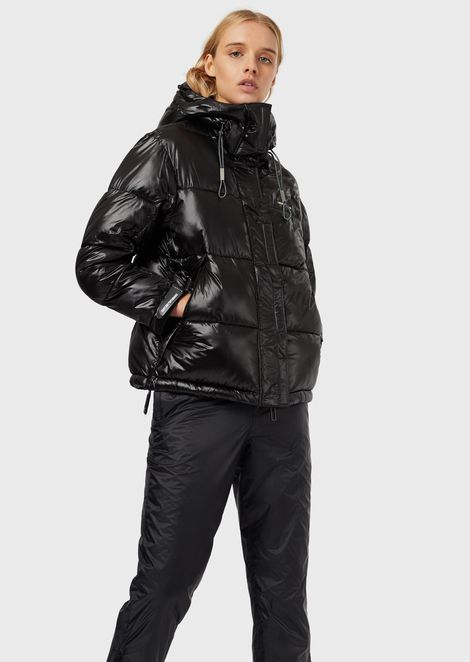 Quilted jacket in glossy nylon
