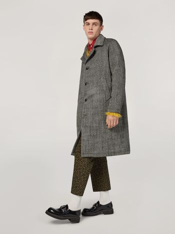 Marni Coat in herringbone wool Man f