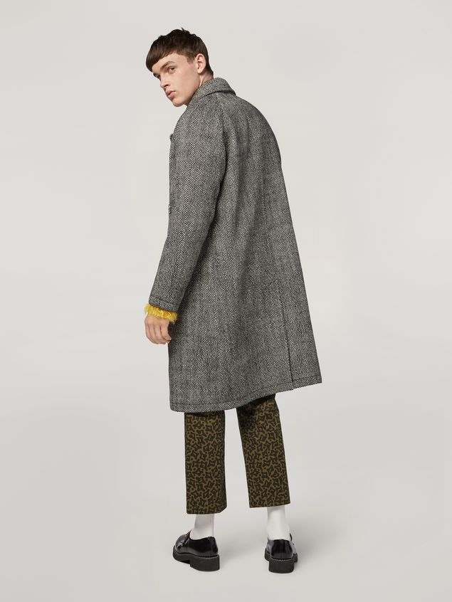 Marni Coat in herringbone wool Man