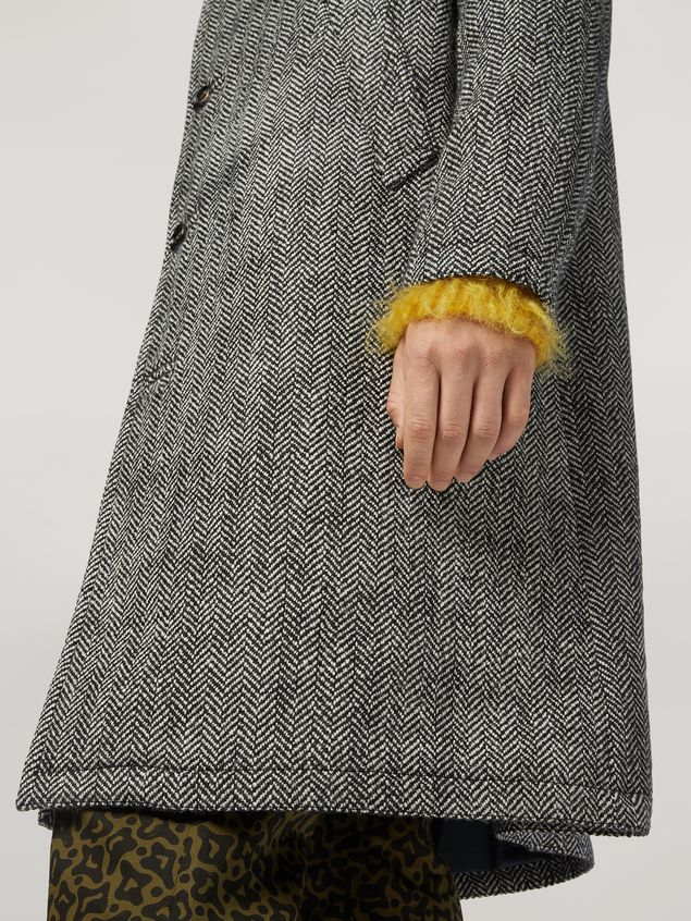 Marni Coat in herringbone wool Man - 5