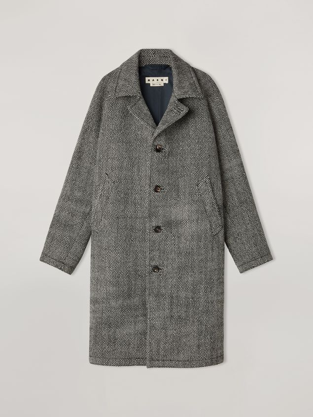 Marni Coat in herringbone wool Man - 2