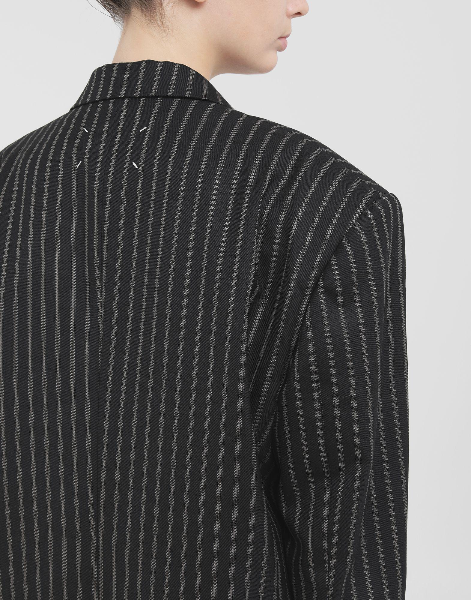 MAISON MARGIELA Oversized striped blazer Blazer Woman b