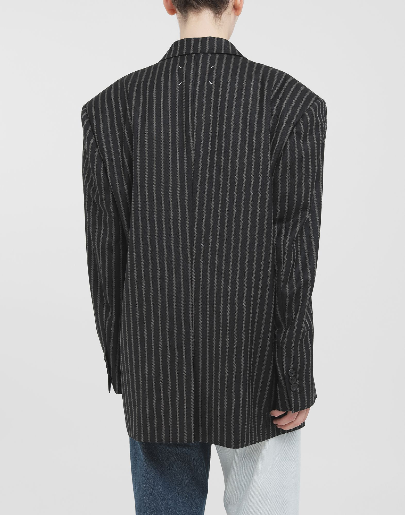 MAISON MARGIELA Oversized striped blazer Blazer Woman e