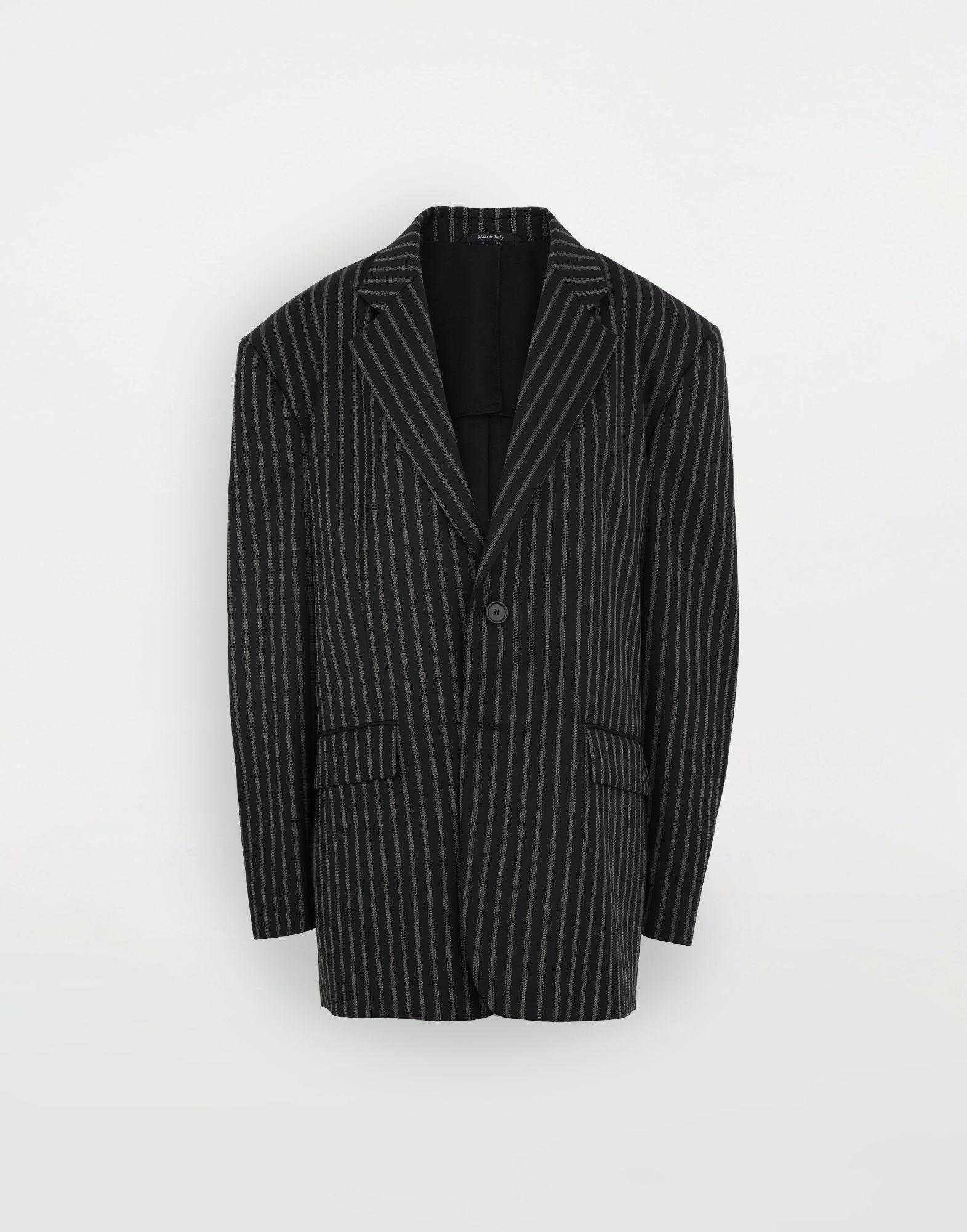 MAISON MARGIELA Oversized striped blazer Blazer Woman f