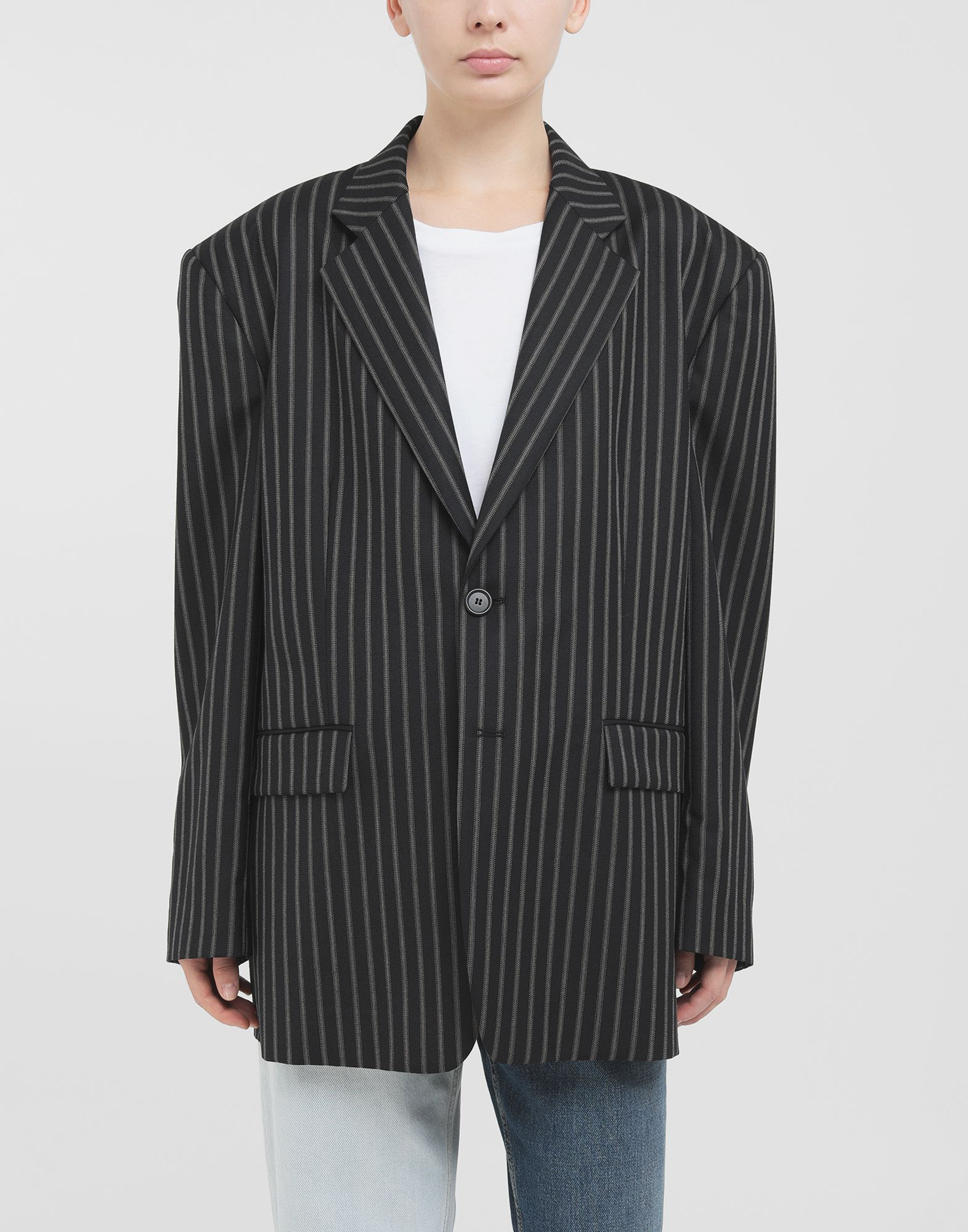 MAISON MARGIELA Oversized striped blazer Blazer Woman r