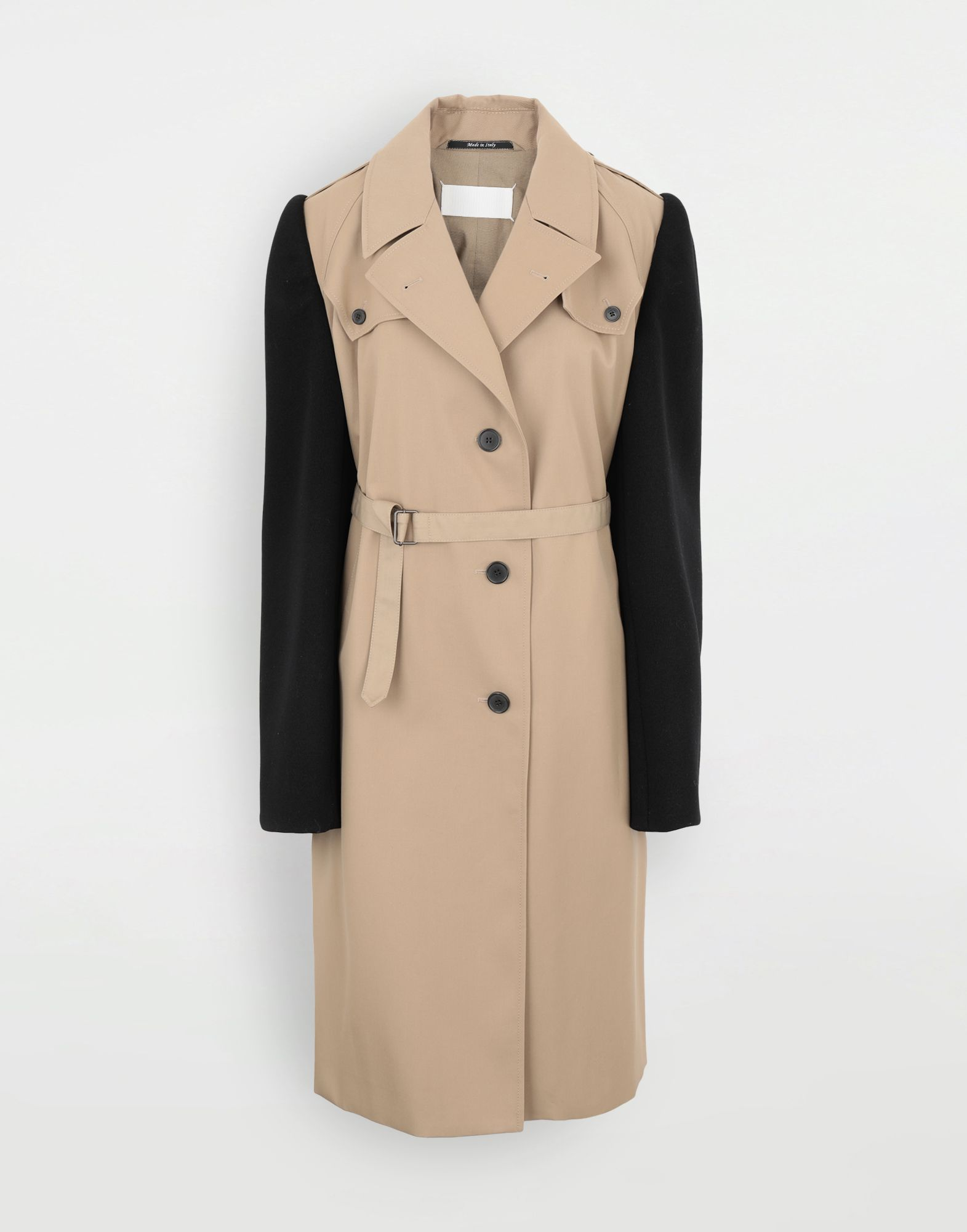 MAISON MARGIELA Bi-material trench Coats and Trenches Woman f