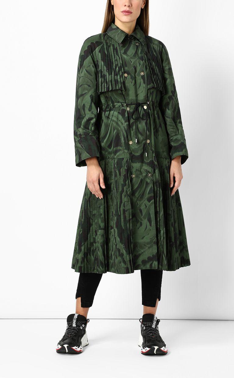 """JUST CAVALLI """"Jungle-Deco'"""" print trench coat Raincoat Woman d"""