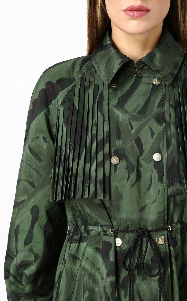 "JUST CAVALLI ""Jungle-Deco'"" print trench coat Raincoat Woman e"