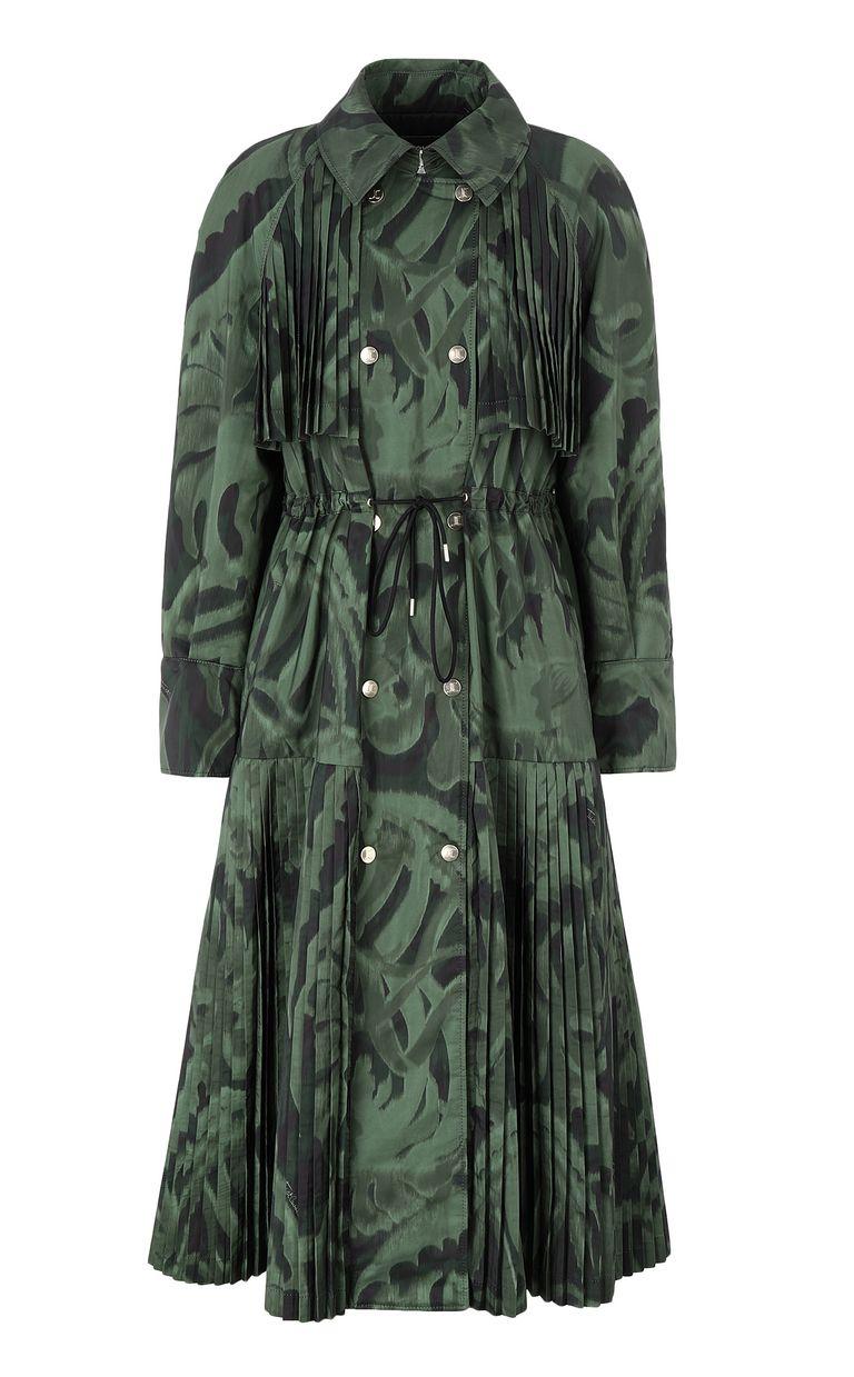 "JUST CAVALLI ""Jungle-Deco'"" print trench coat Raincoat Woman f"