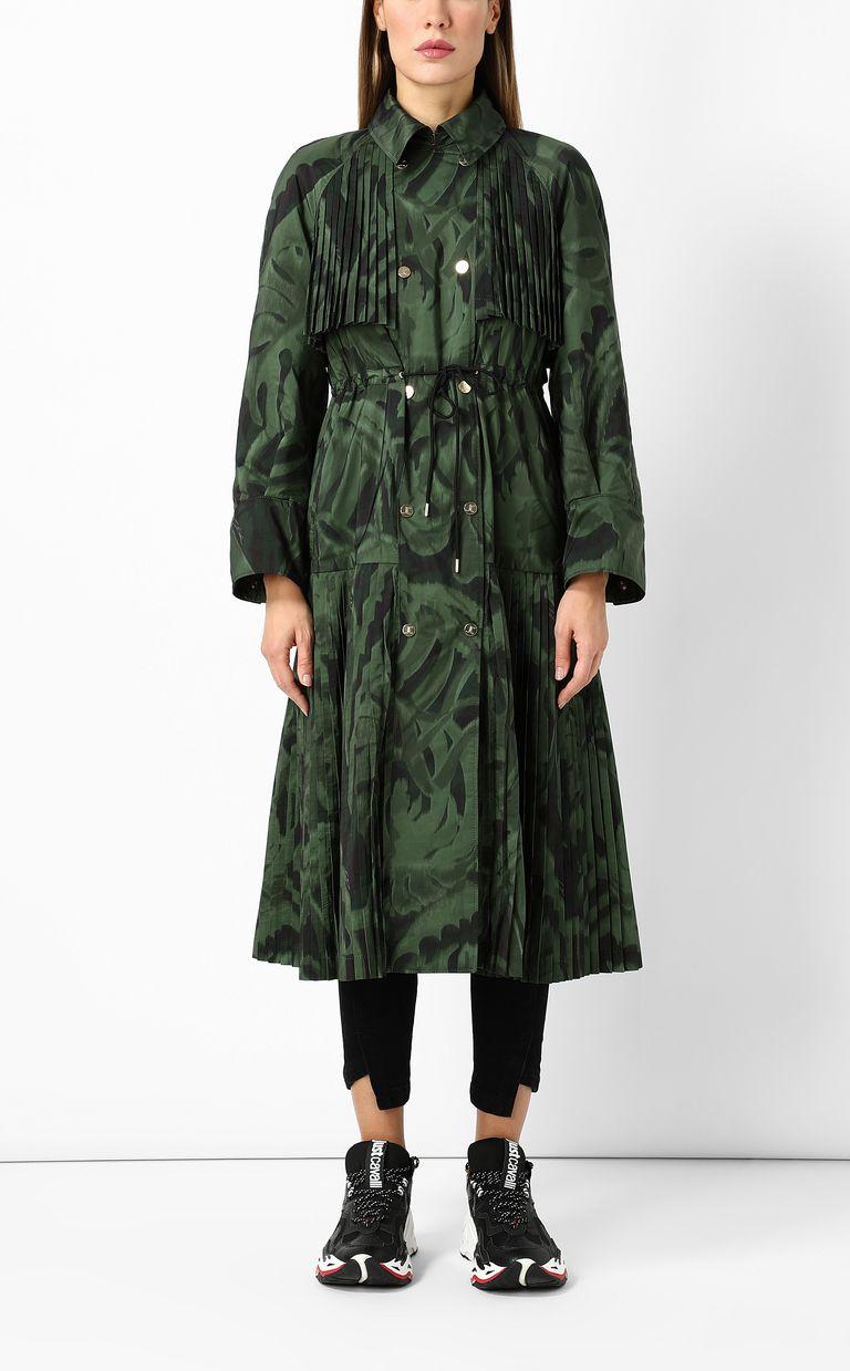 "JUST CAVALLI ""Jungle-Deco'"" print trench coat Raincoat Woman r"