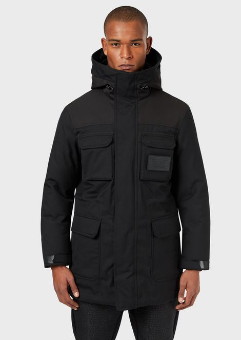 Multi-pocket jacket with down padding