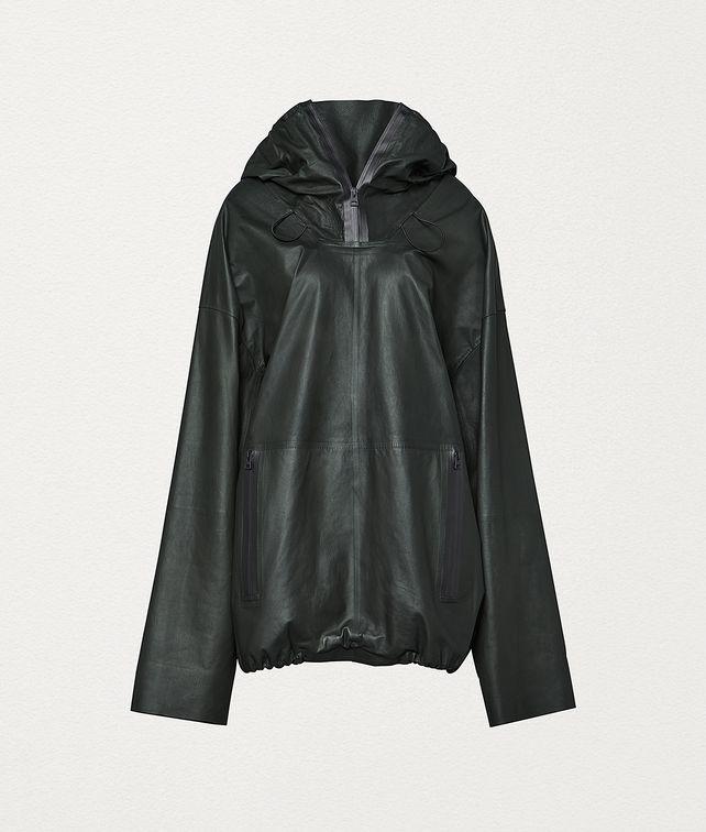 BOTTEGA VENETA COAT IN CALF LEATHER Outerwear and Jacket Woman fp