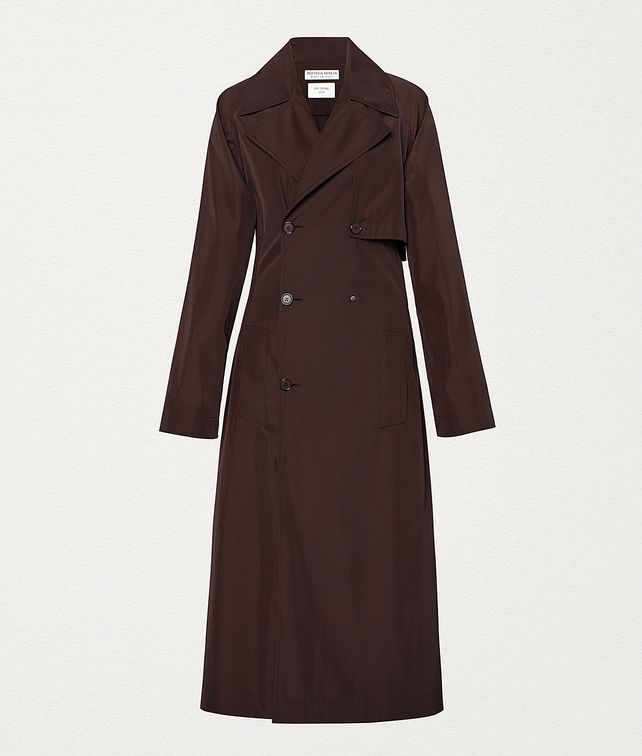 BOTTEGA VENETA TRENCH IN TECHNO POPLIN Outerwear and Jacket Woman fp