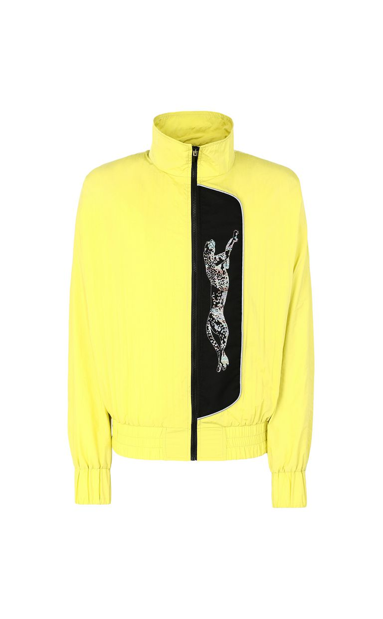 JUST CAVALLI Sporty jacket with cheetah Jacket Man f