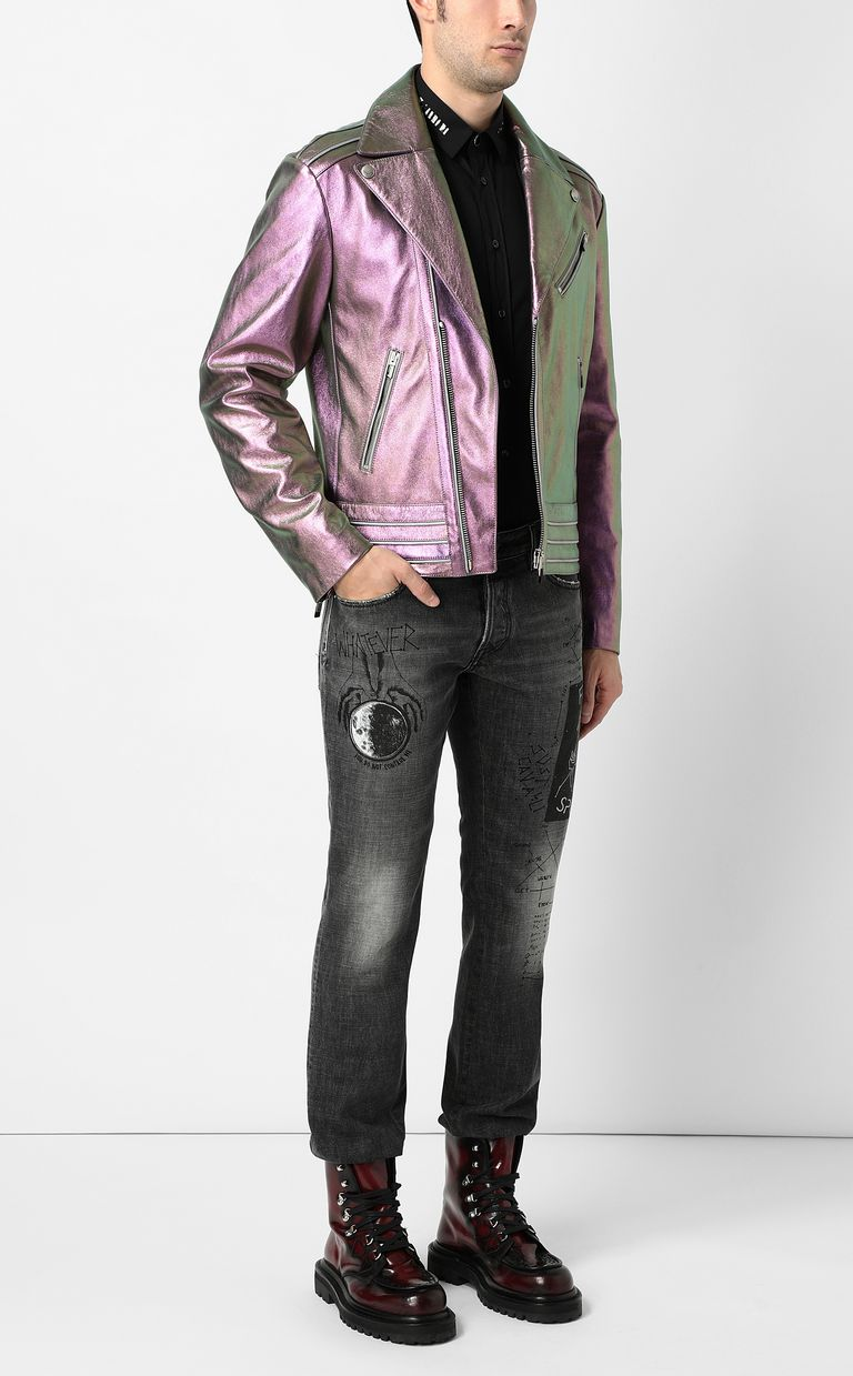 JUST CAVALLI Leather jacket Jacket Man d