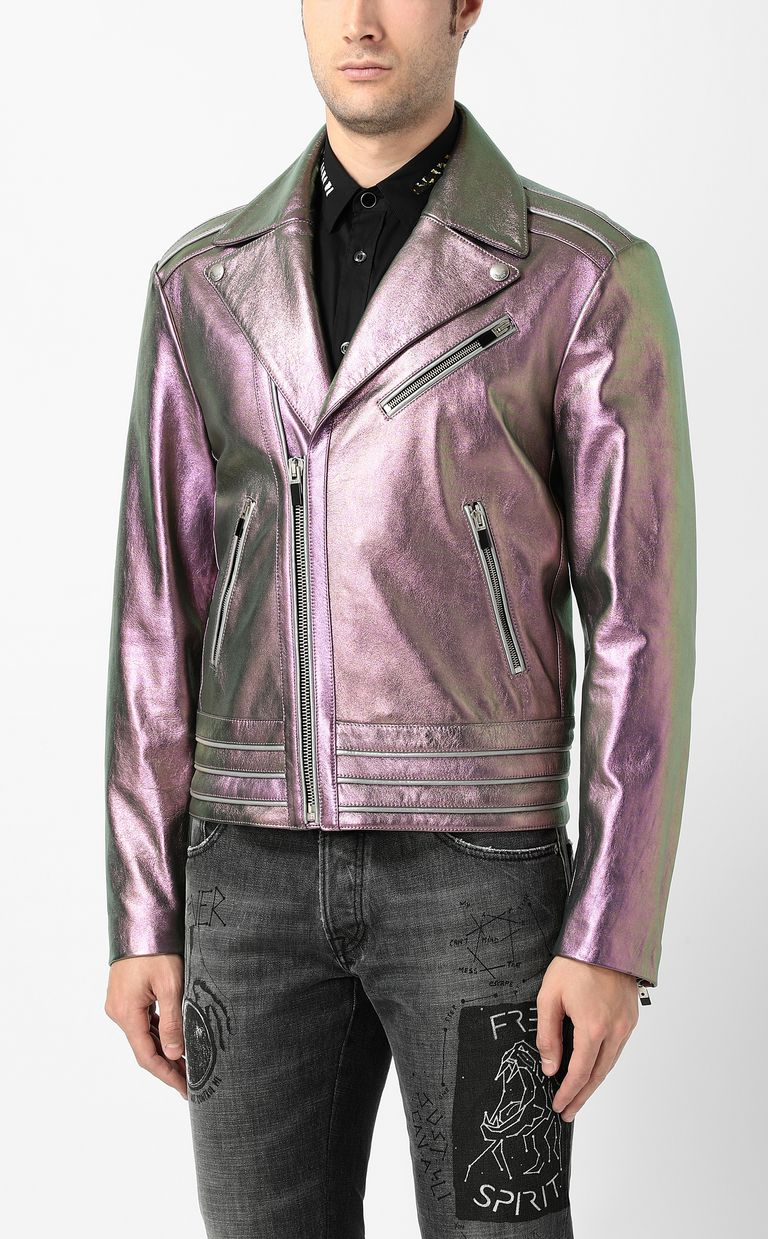 JUST CAVALLI Leather jacket Jacket Man r