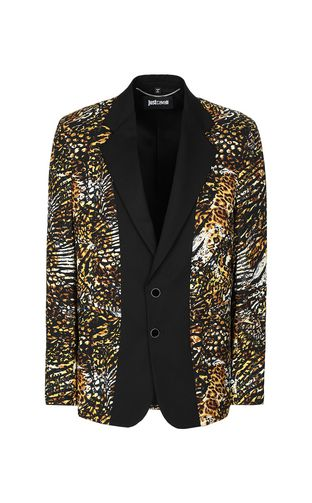 "JUST CAVALLI Blazer Man Jacket with ""Duality"" pattern f"
