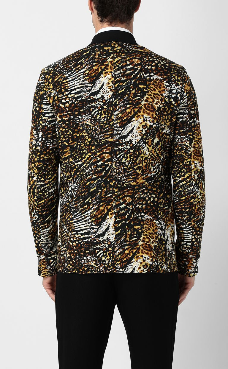 "JUST CAVALLI Jacket with ""Duality"" pattern Blazer Man a"