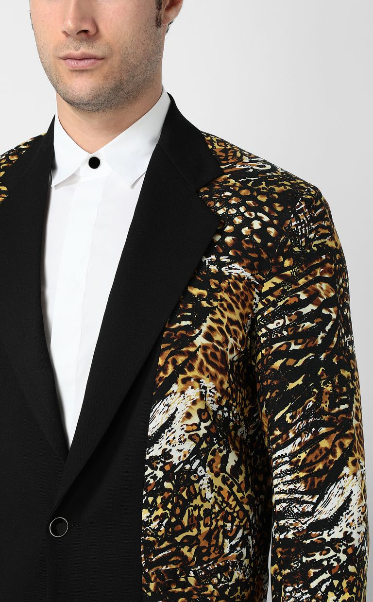 "JUST CAVALLI Jacket with ""Duality"" pattern Blazer Man e"