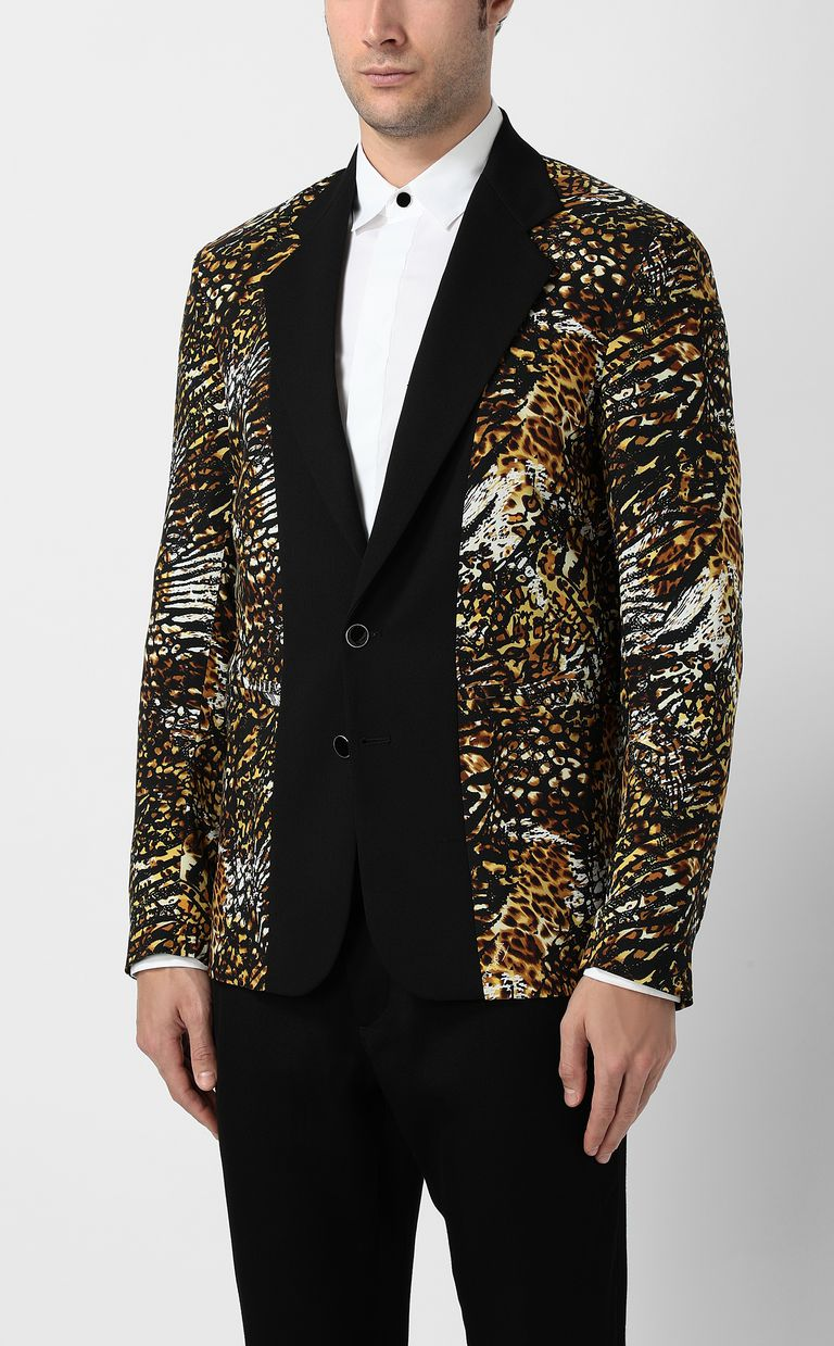 "JUST CAVALLI Jacket with ""Duality"" pattern Blazer Man r"