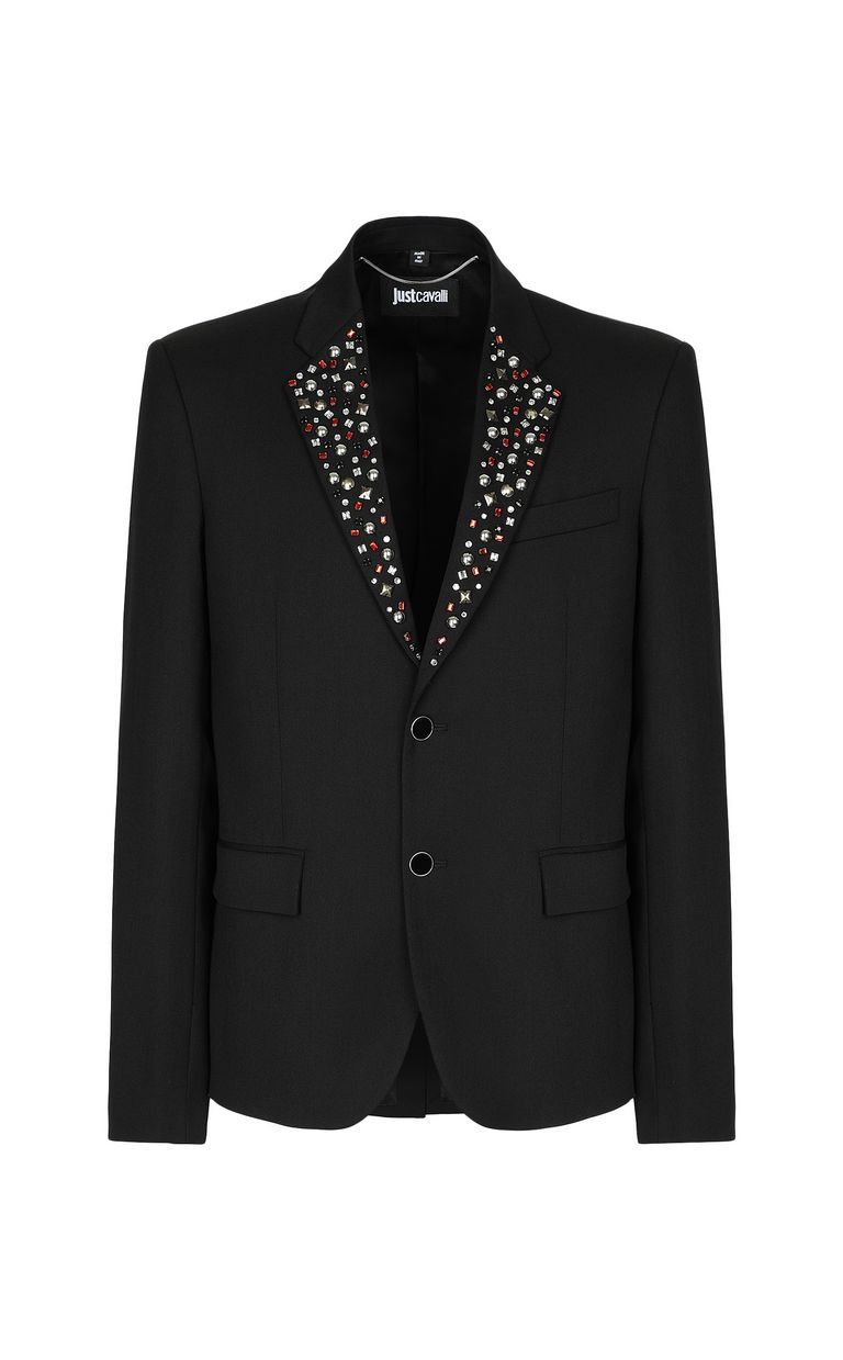 JUST CAVALLI Jacket with crystal detailing Blazer Man f