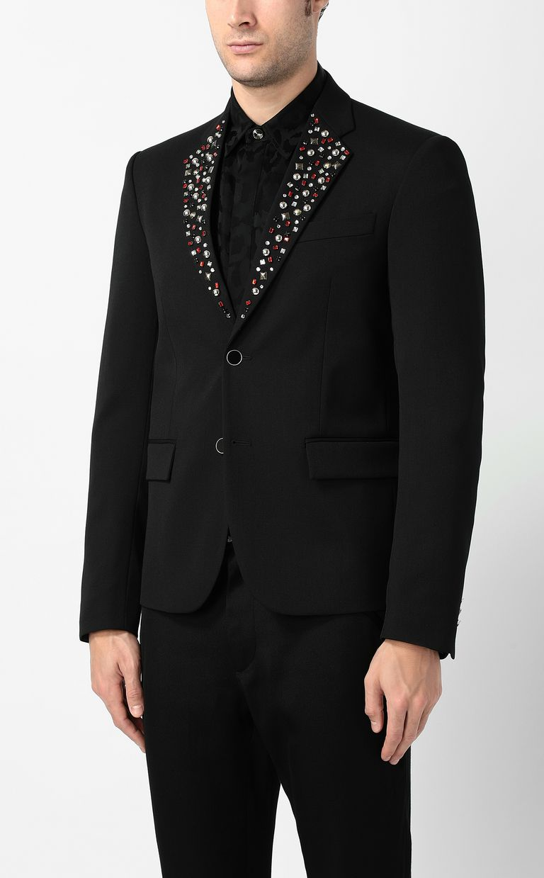 JUST CAVALLI Jacket with crystal detailing Blazer Man r