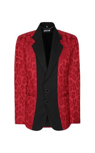 "JUST CAVALLI Blazer Man Jacket with ""Duality"" pattern f"
