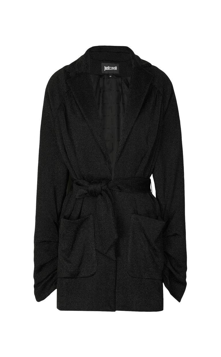 JUST CAVALLI Jacket in metallic jersey Blazer Woman f