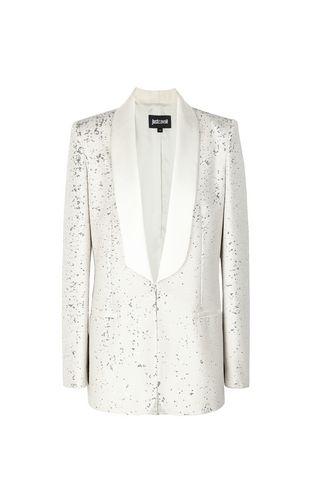 Sequinned tuxedo jacket
