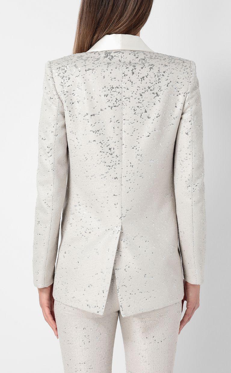 JUST CAVALLI Sequinned tuxedo jacket Blazer Woman a