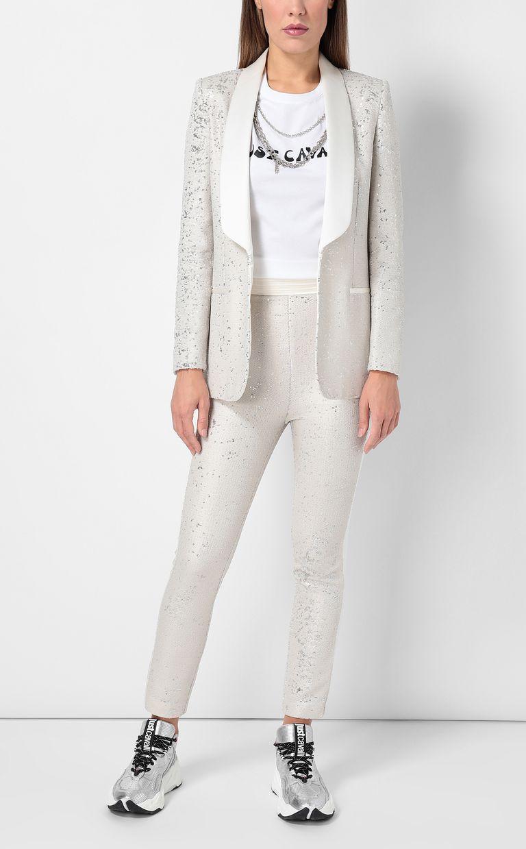 JUST CAVALLI Sequinned tuxedo jacket Blazer Woman d