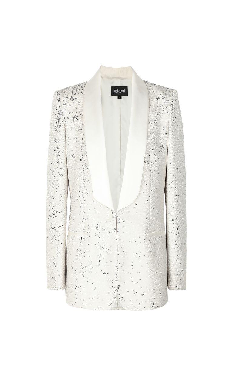 JUST CAVALLI Sequinned tuxedo jacket Blazer Woman f