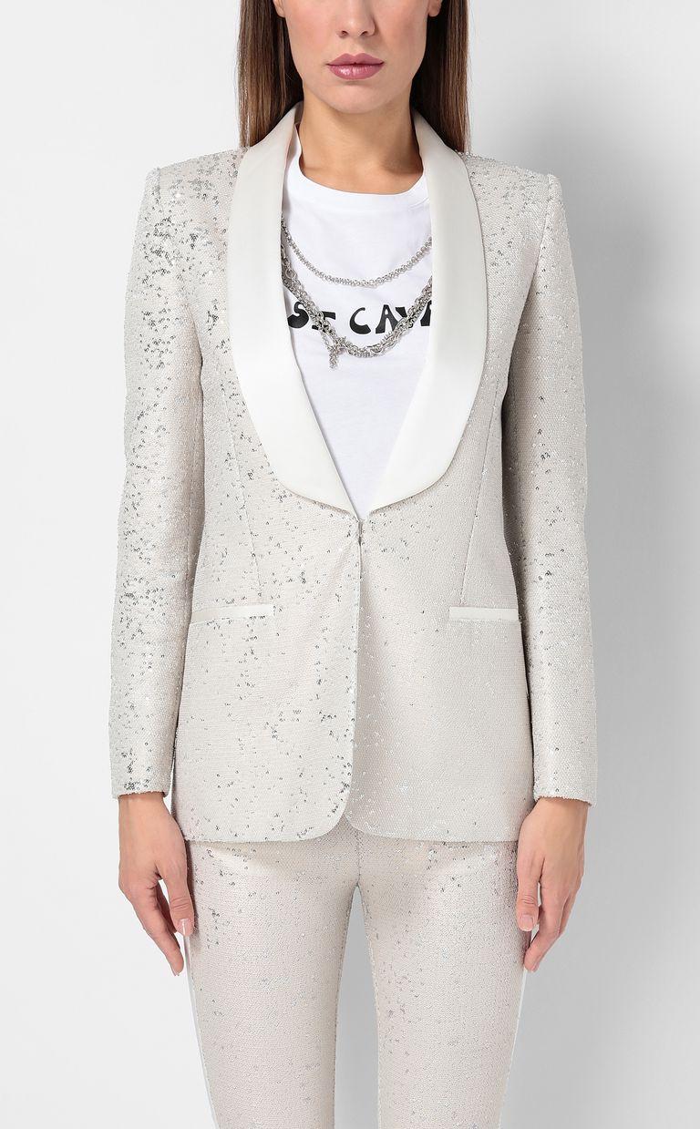 JUST CAVALLI Sequinned tuxedo jacket Blazer Woman r