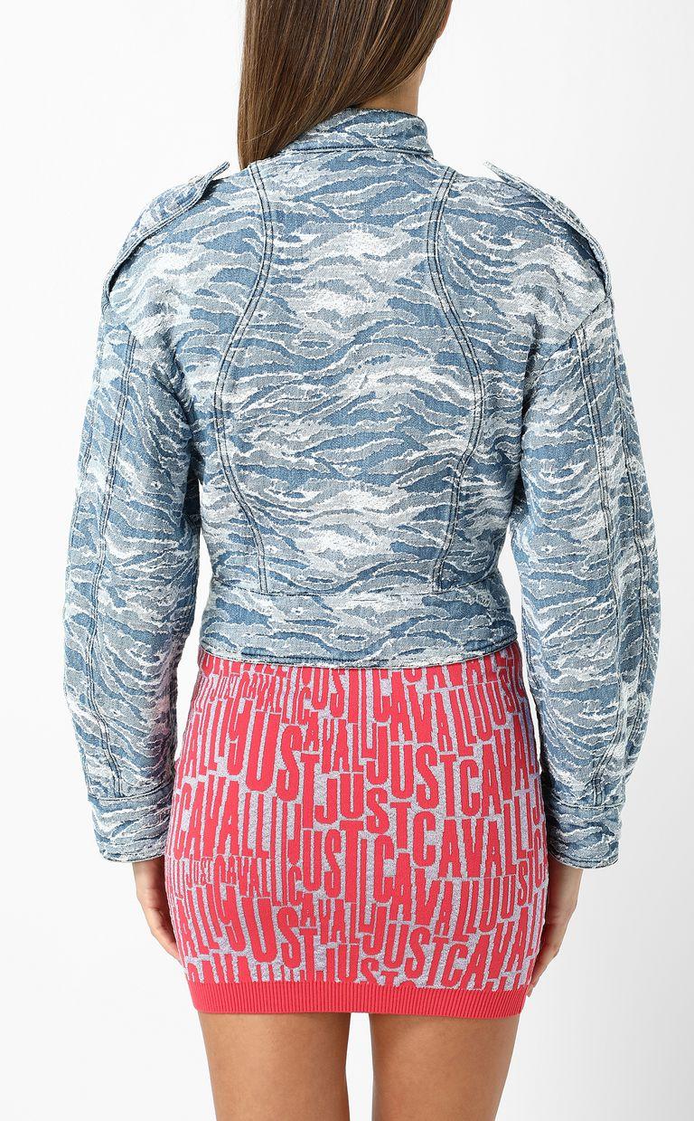 JUST CAVALLI Jacquard denim jacket Blazer Woman a