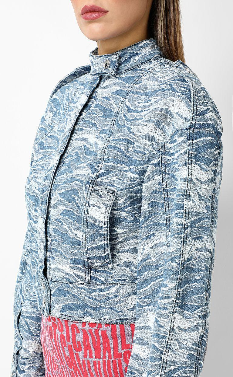 JUST CAVALLI Jacquard denim jacket Blazer Woman e