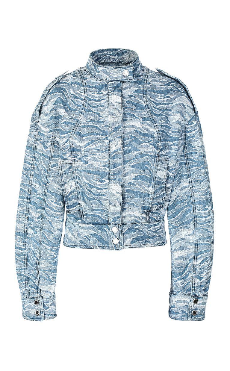 JUST CAVALLI Jacquard denim jacket Blazer Woman f