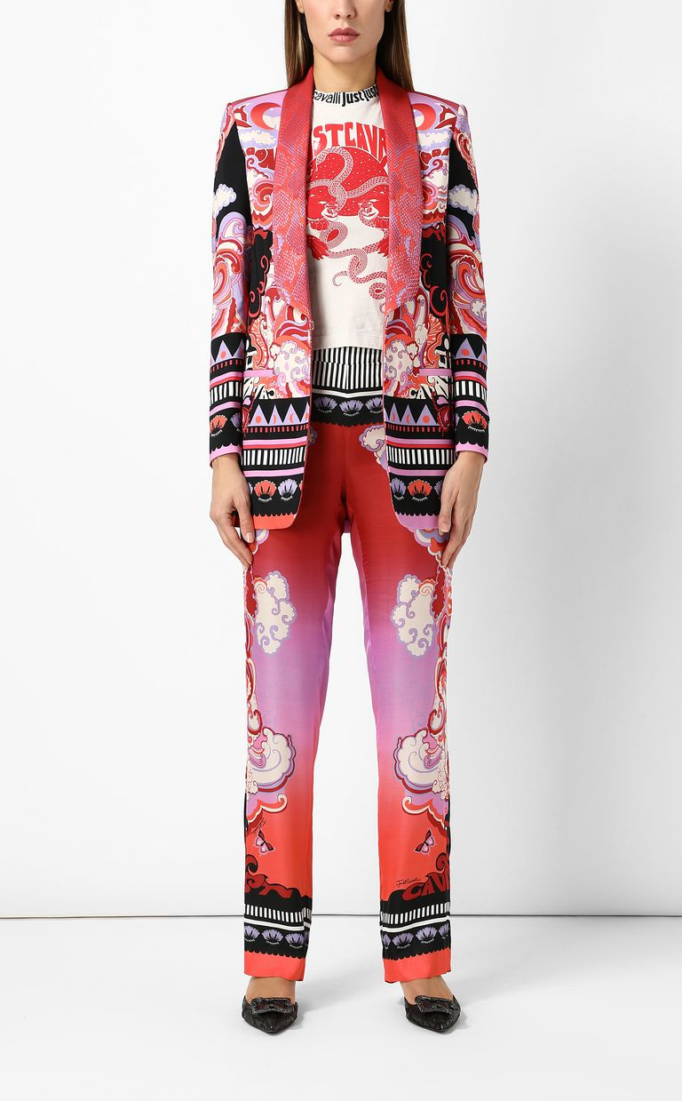 "JUST CAVALLI Jacket with ""Genesis"" print Blazer Woman d"