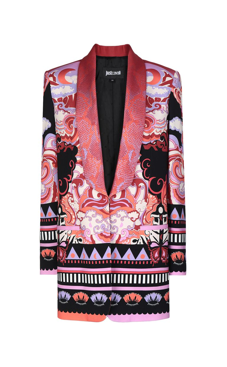 "JUST CAVALLI Jacket with ""Genesis"" print Blazer Woman f"