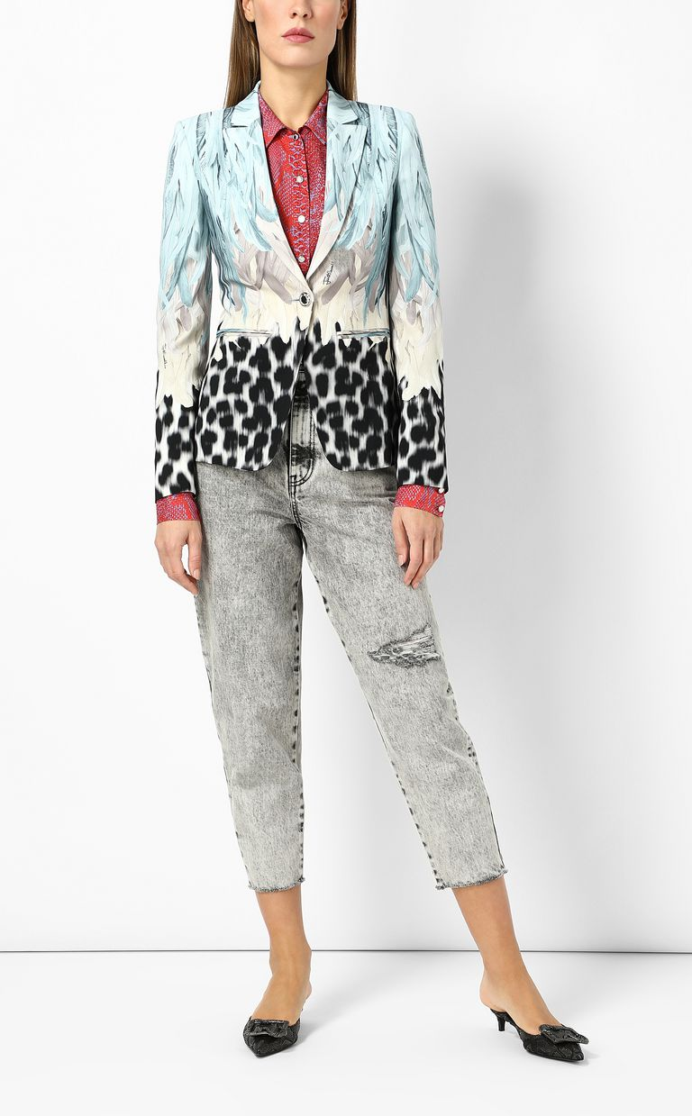 JUST CAVALLI Phoenix-and-leopard print jacket Blazer Woman d