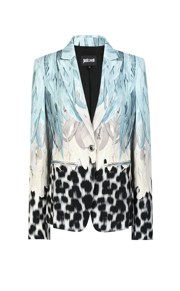 JUST CAVALLI Phoenix-and-leopard print jacket Blazer Woman f
