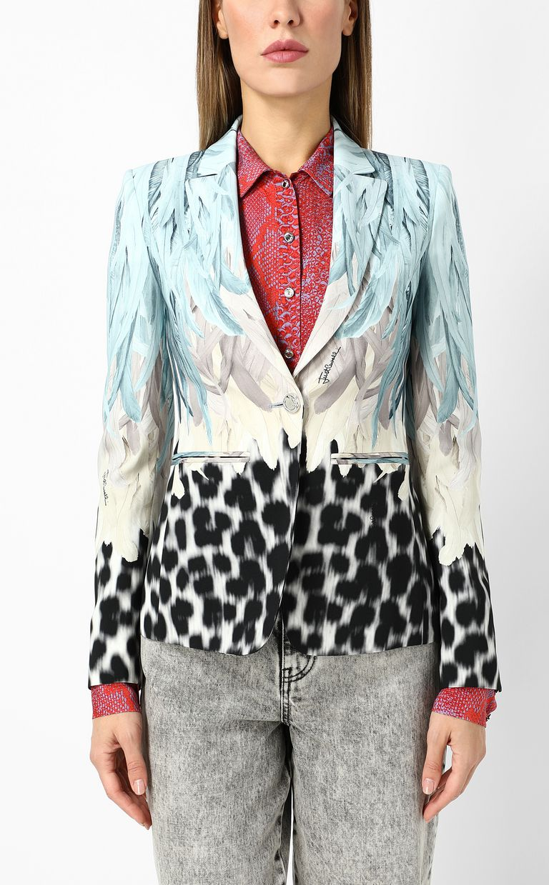 JUST CAVALLI Phoenix-and-leopard print jacket Blazer Woman r
