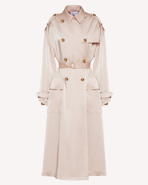 REDValentino Fluid satin trench coat