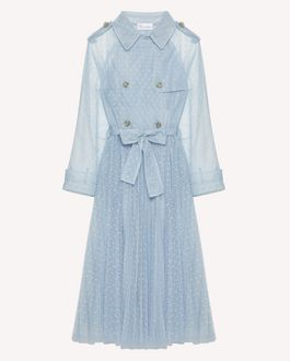 REDValentino Point d'esprit tulle trench coat