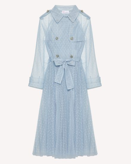 Point d'esprit tulle trench coat