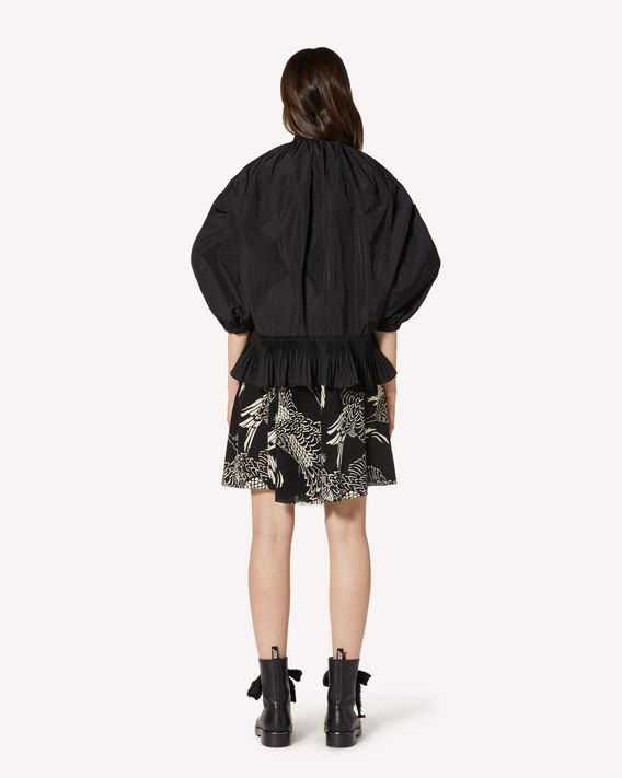 REDValentino Taffeta caban with a pleated flounce