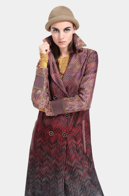 MISSONI Coat Maroon Woman - Front