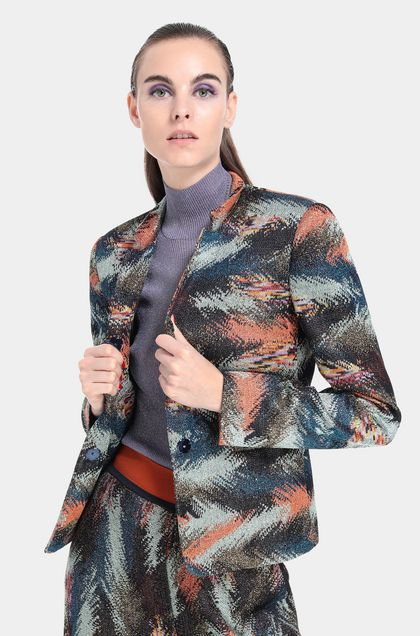 MISSONI Jacket Blue Woman - Front
