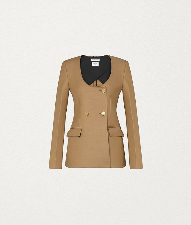 BOTTEGA VENETA JACKET IN WOOL Outerwear and Jacket Woman fp