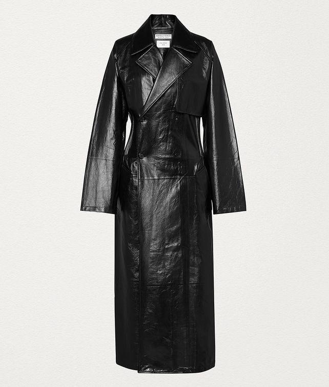 BOTTEGA VENETA COAT IN SHINY LEATHER Outerwear and Jacket Woman fp