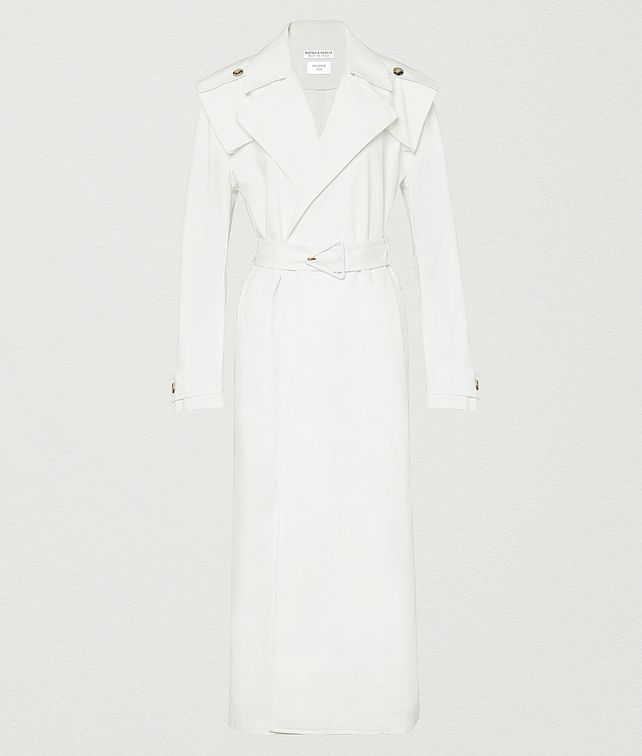 BOTTEGA VENETA TRENCH IN COTTON CANVAS Outerwear and Jacket Woman fp